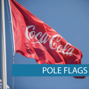 Pole Flags for Coca Cola