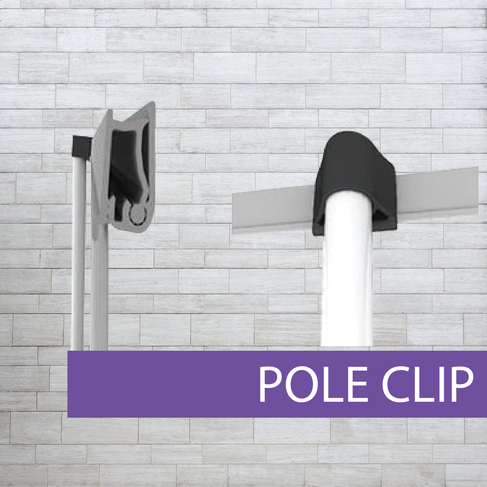 Pull-up banner pole kit