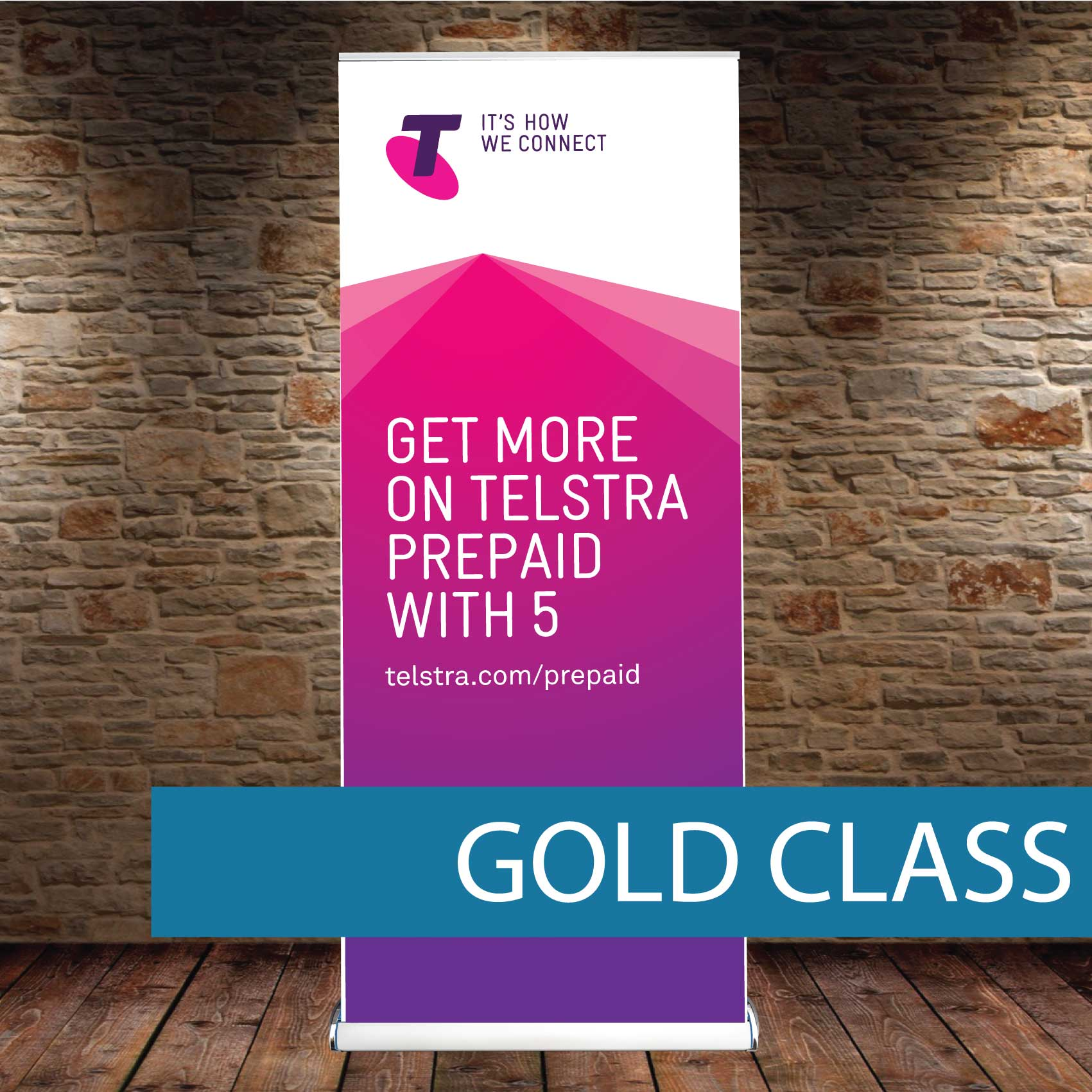 Gold Class Pull-up Banner