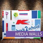 Custom Slimline Media Walls, Custom Backdrops