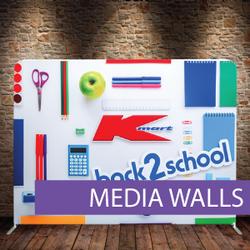 Media Wall, Fabric Media Wall, Tension F