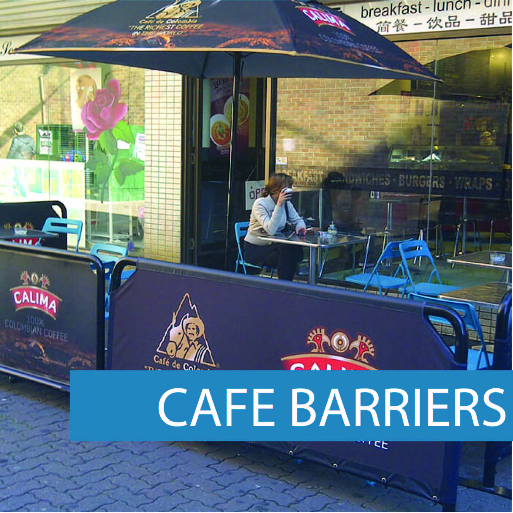Outdoor cafe barriers Pub