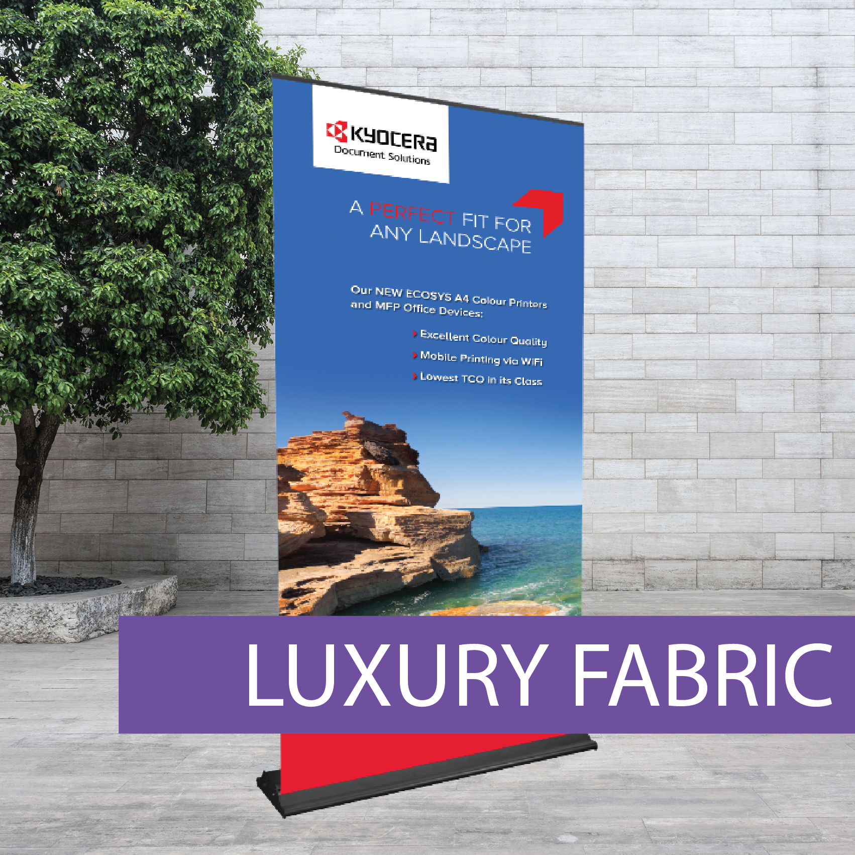 Luxury fabric Pullup Banner