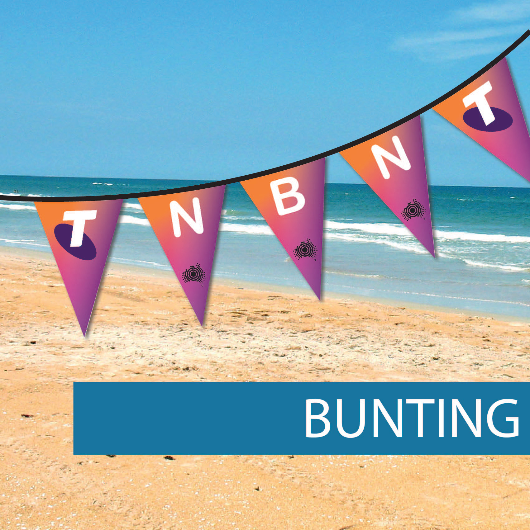 Bunting flags Australia