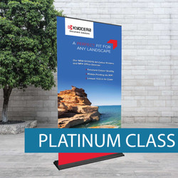 High traffic pull-up banner