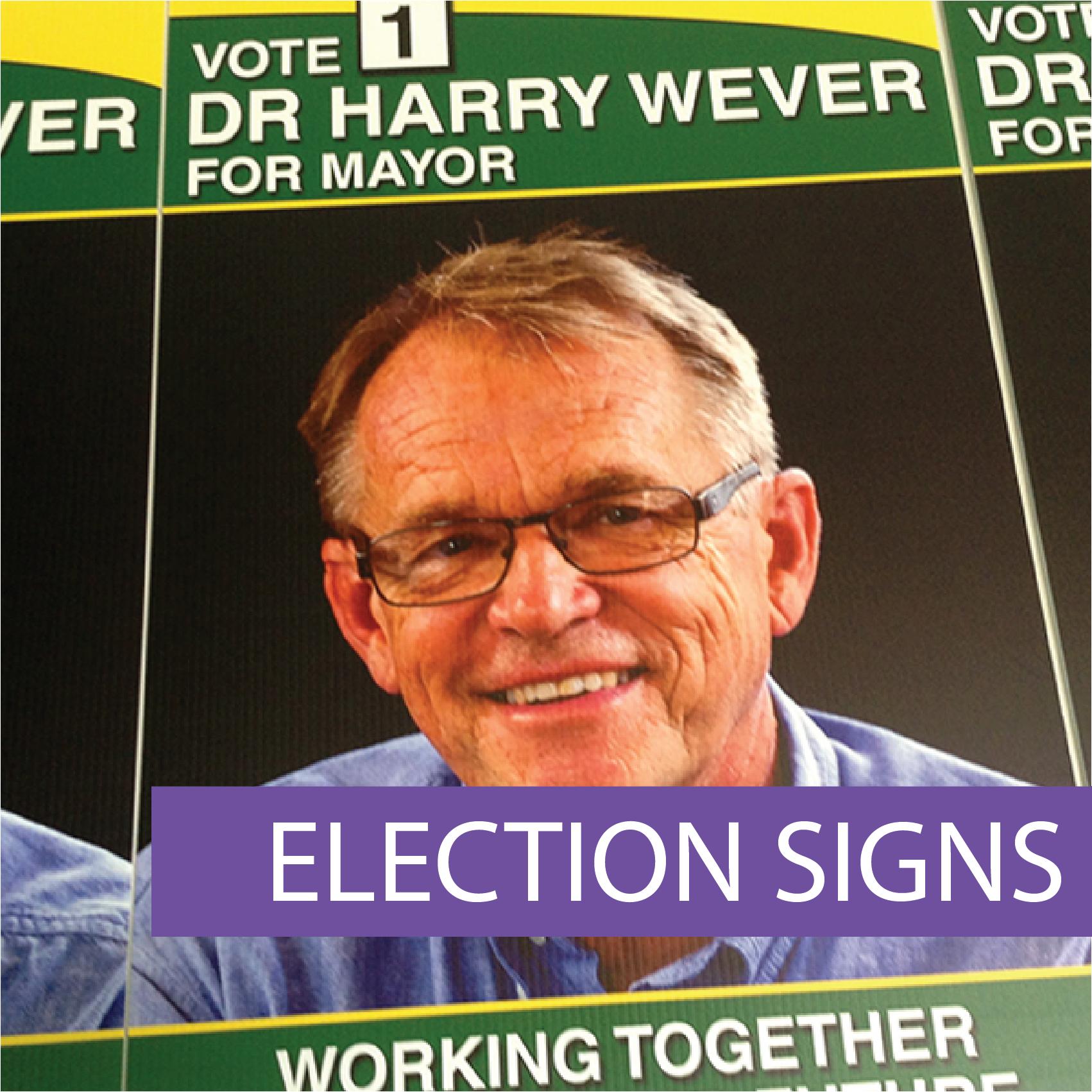 Electoral party signs