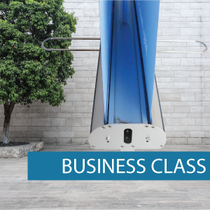 Business class double sided retractable banner base
