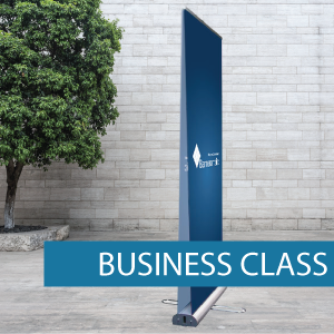 Business class double sided pull-up banner