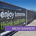 Banner mesh, construction banners