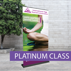 Heavy weight pull-up banner