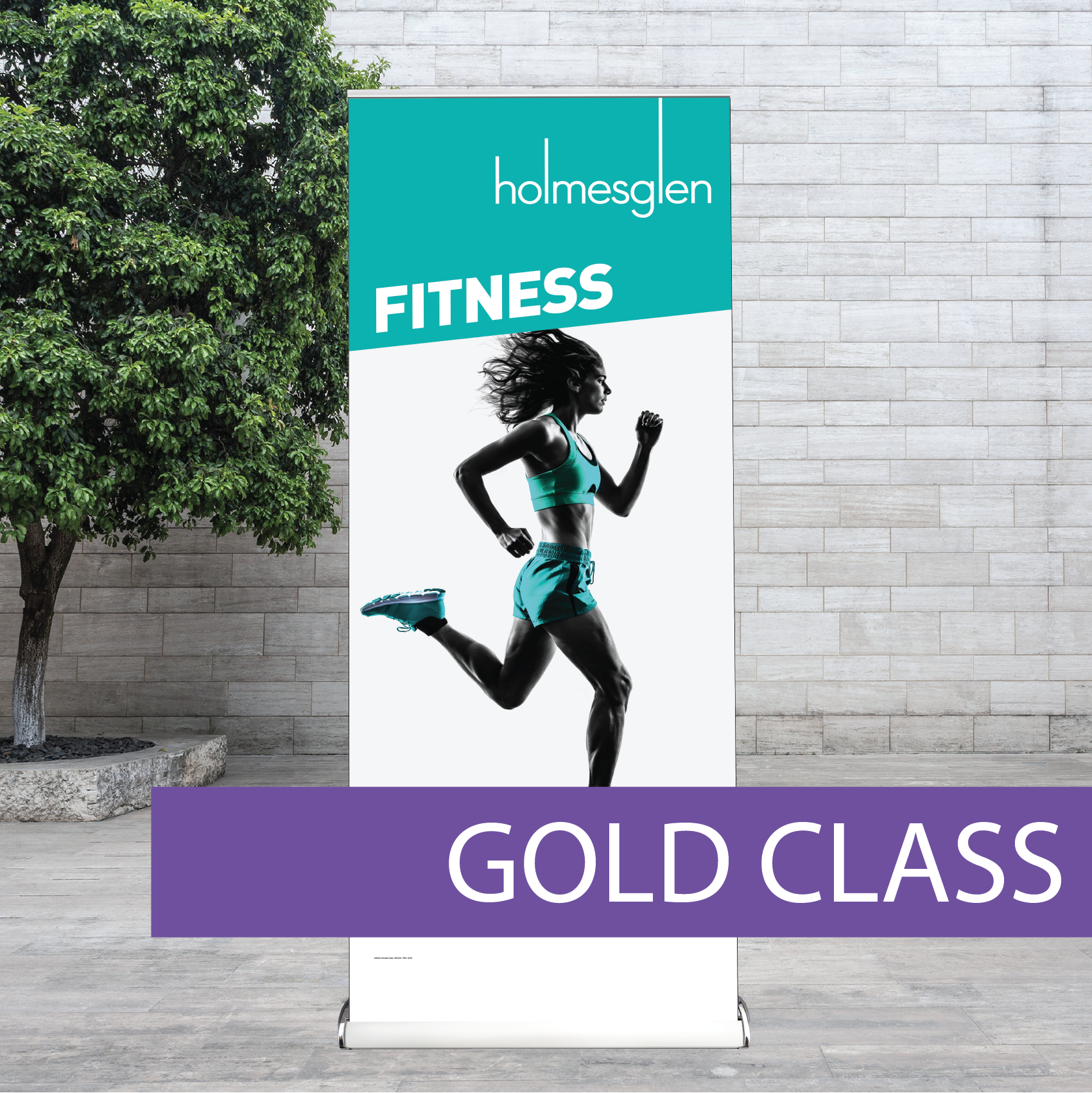 Corporate pull-up banner