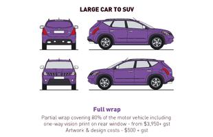 Vehicle Wrap - Large Car - Full Wrap - S