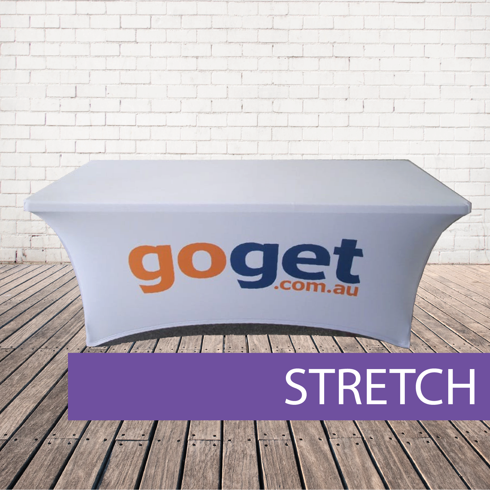 Strtch table cloth