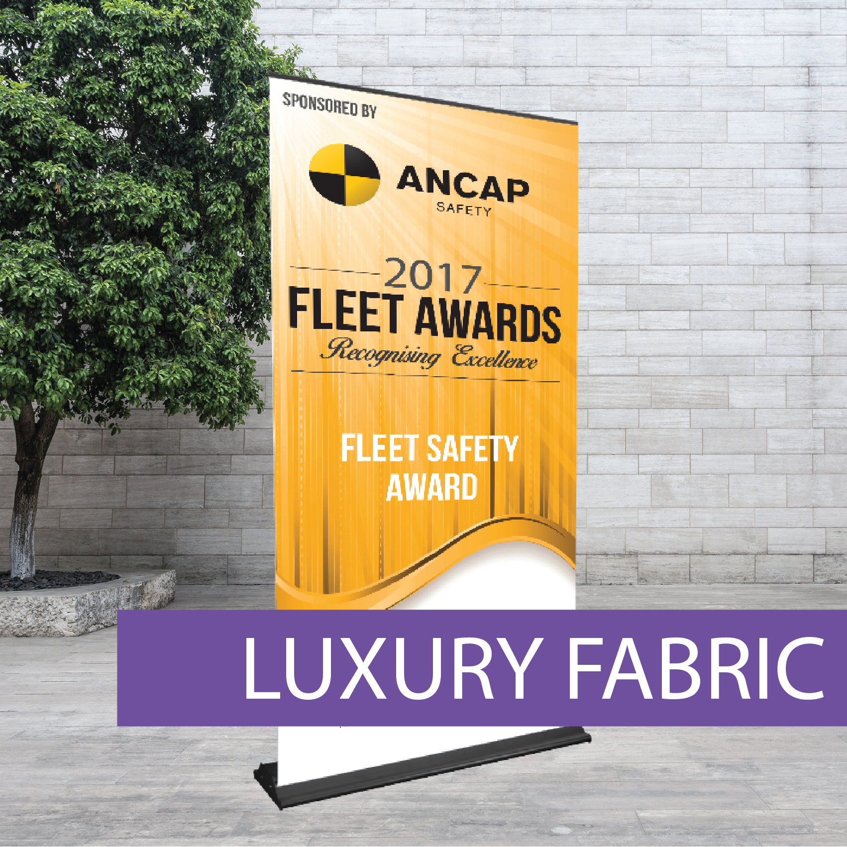 Luxury fabric Pull-up Banner