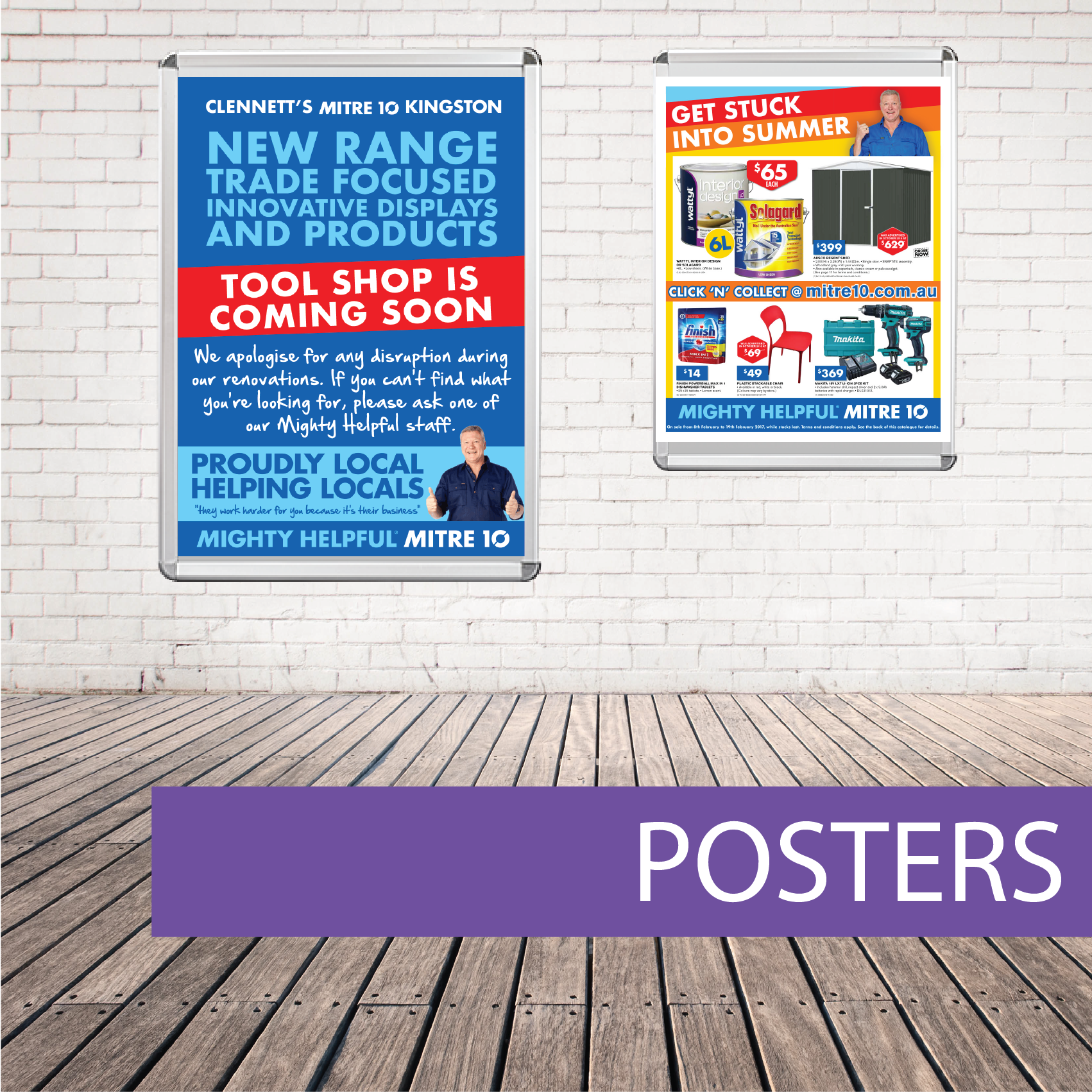 Wall posters Mitre 10