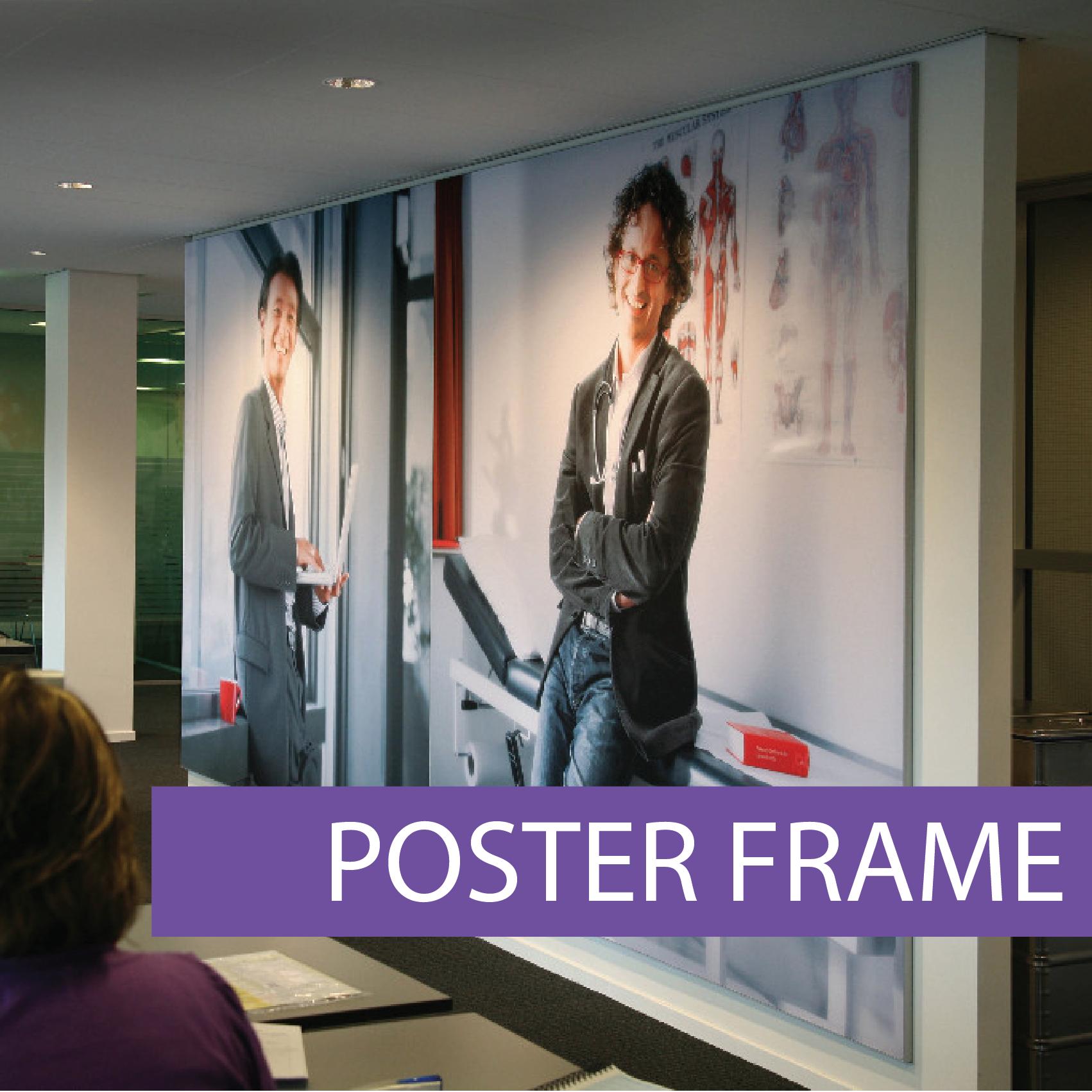 Frameless poster frame