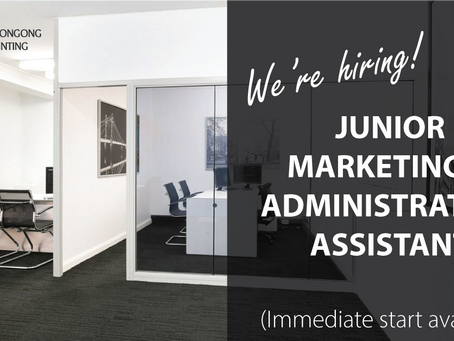 WE'RE HIRING - JUNIOR MARKETING & ADMINISTRATION ASSISTANT - WOLLONGONG - $30 to $35K