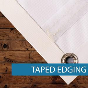 Outdoor Media - Finishing - Tape Edging.