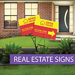 Real Estate Corflute Signs with Metal Spikes