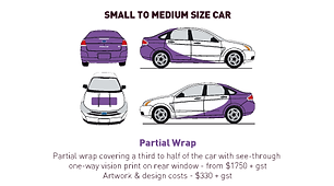 Vehicle Wrap - Small to Medium - Half Wr