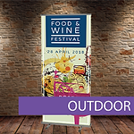 Outdoor heavy duty double sided banner