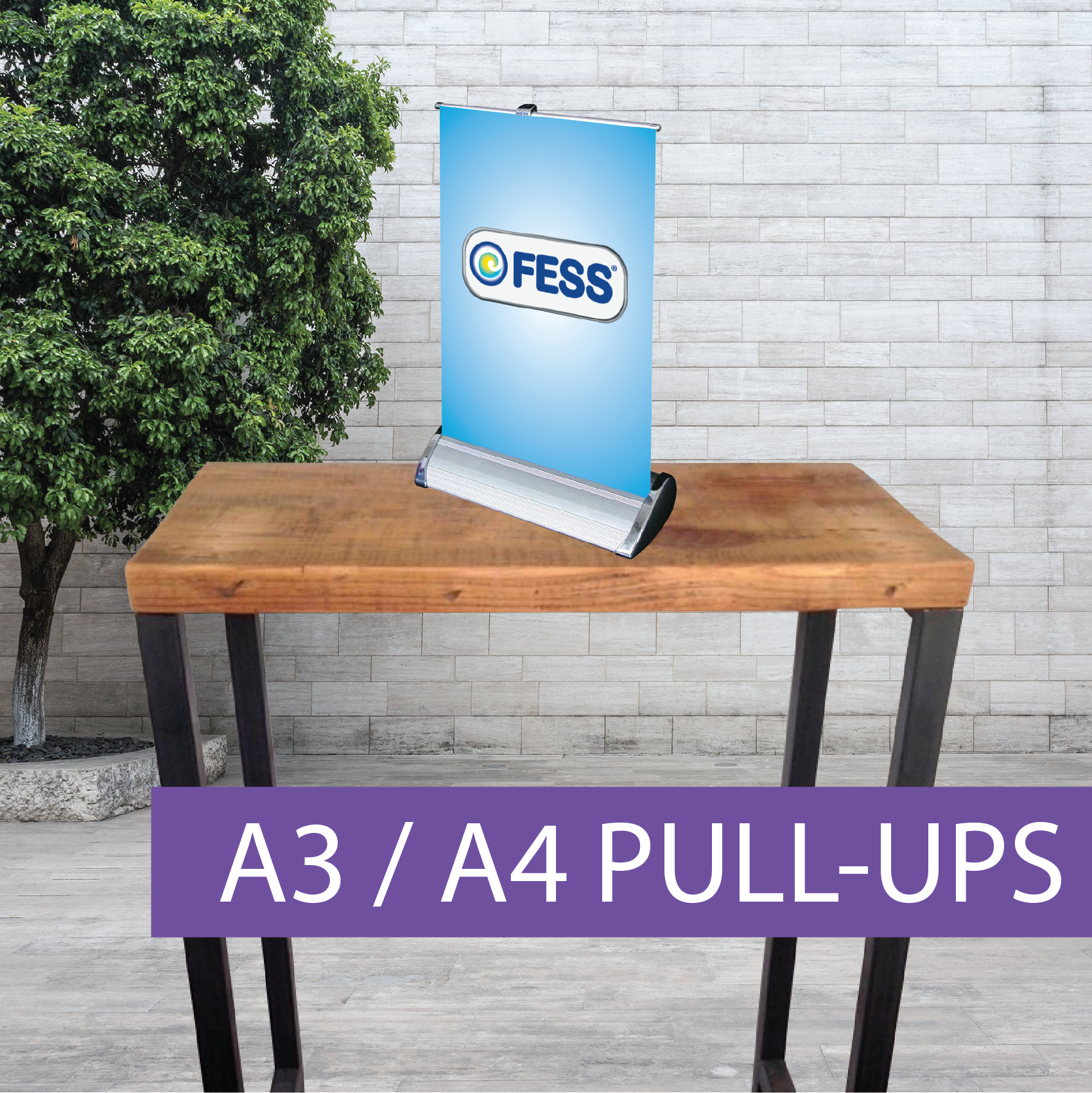 Small pull-up banner