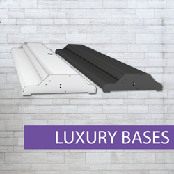 Luxury pullup banner bases