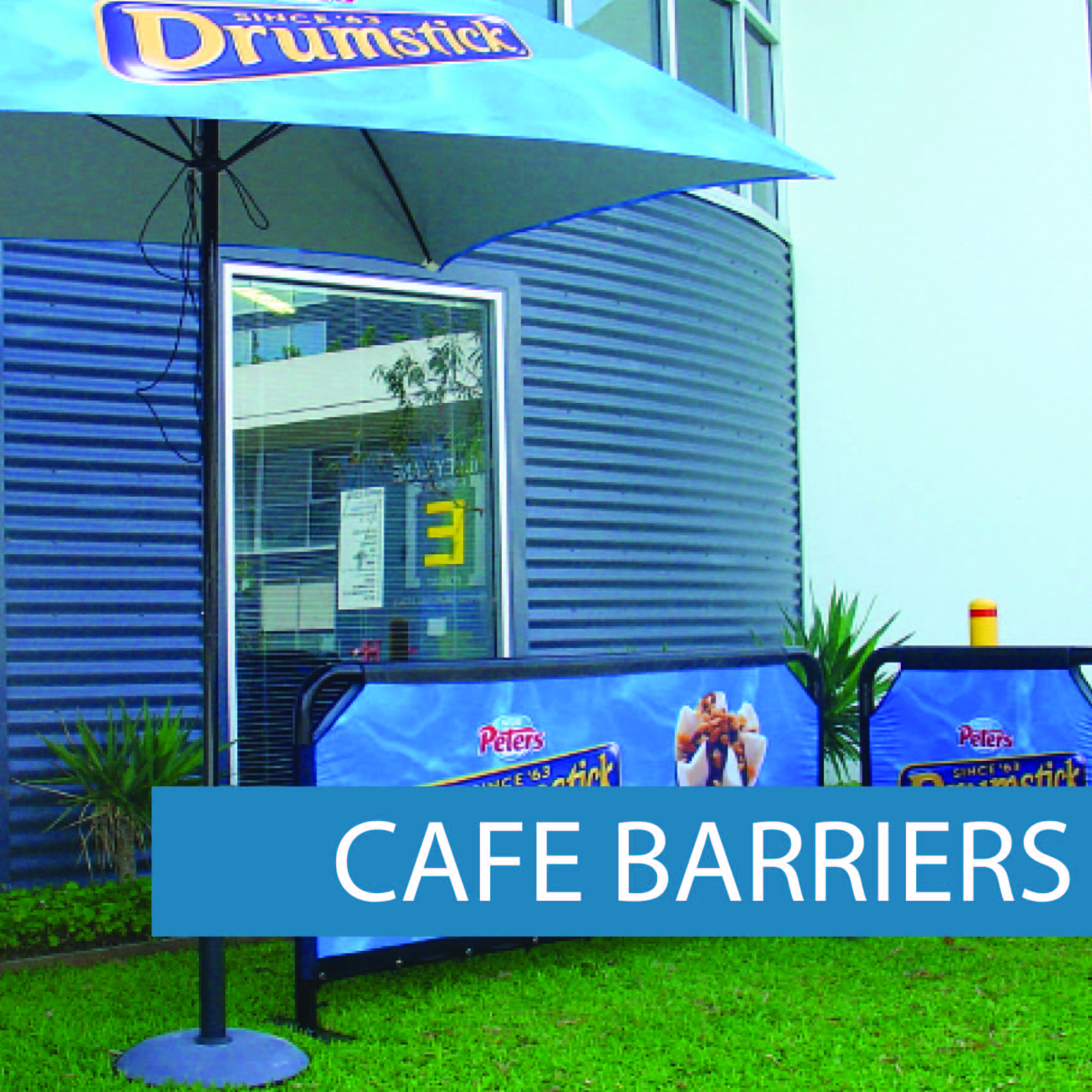 Cafe barriers Street