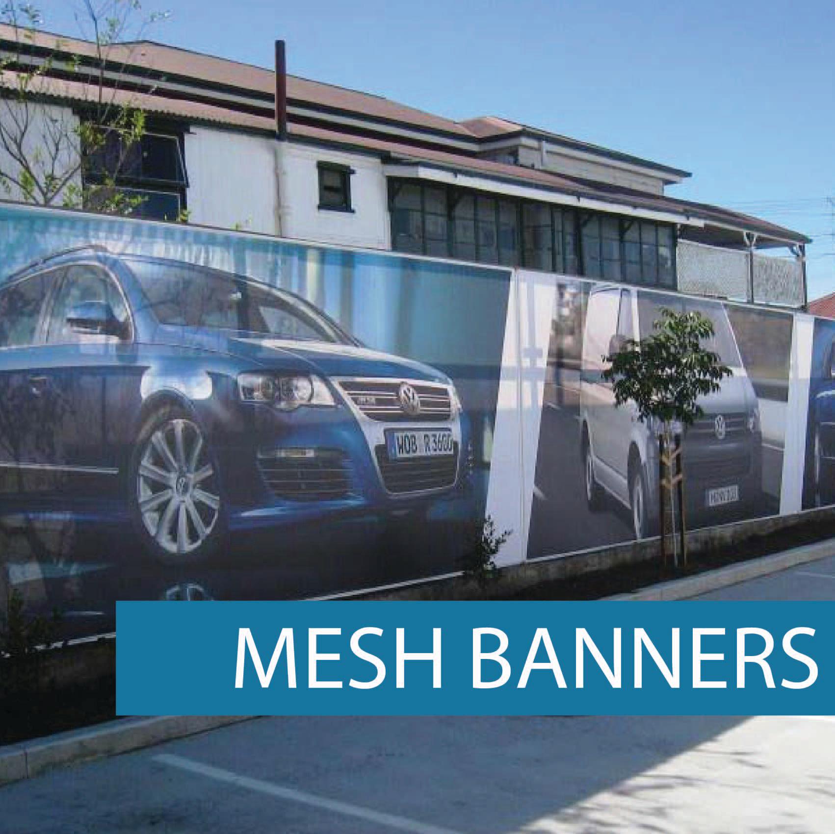 Advertising mesh Banner