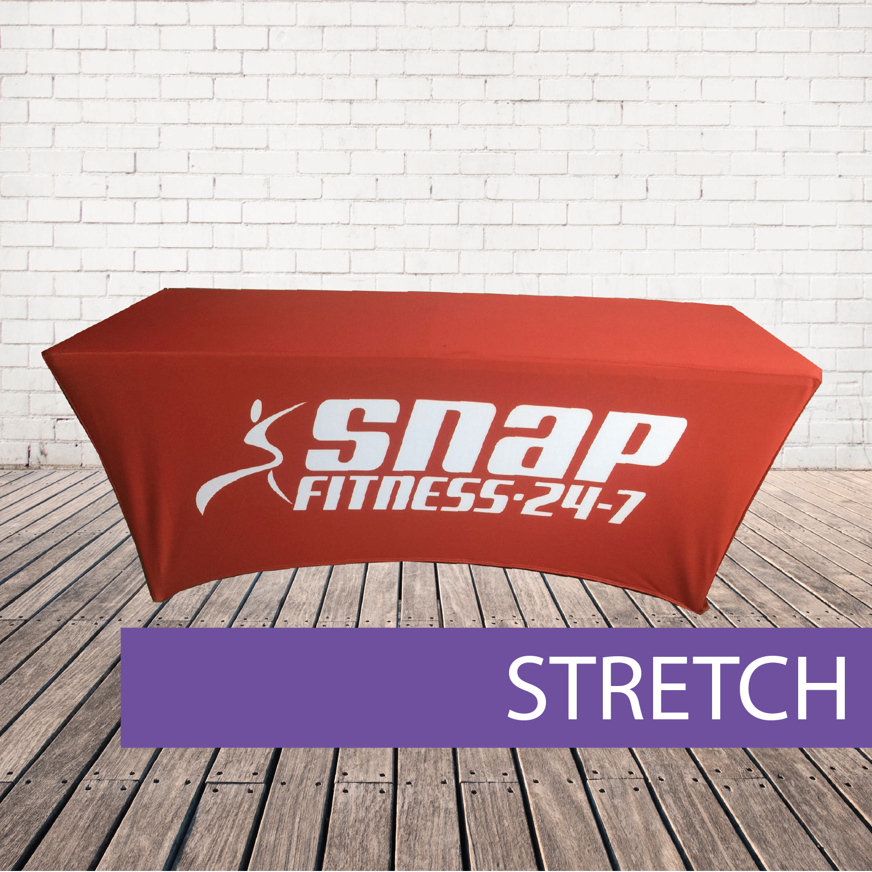 Stretch branded table cover