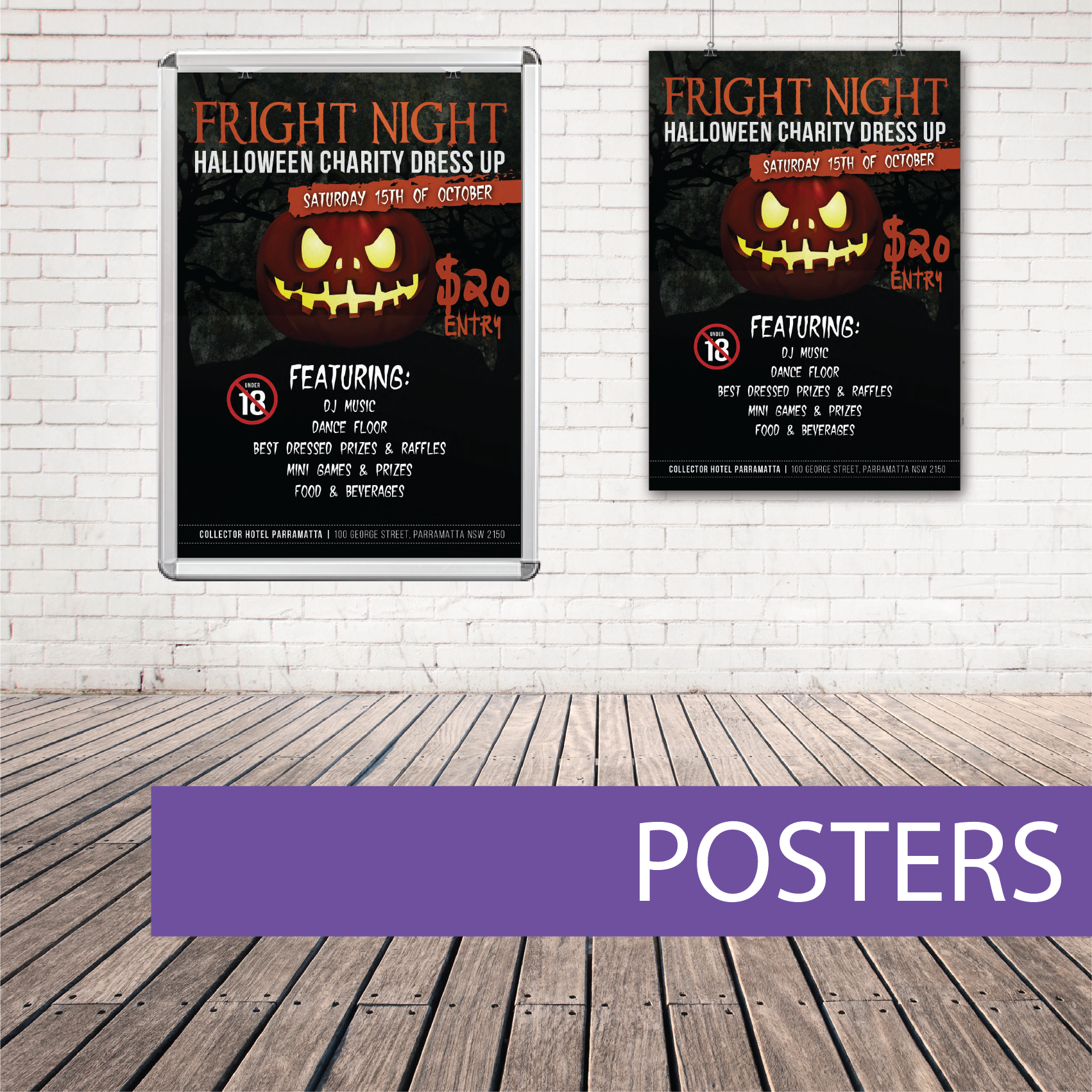 Wall poster halloween