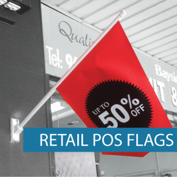Retail Point of sale flags