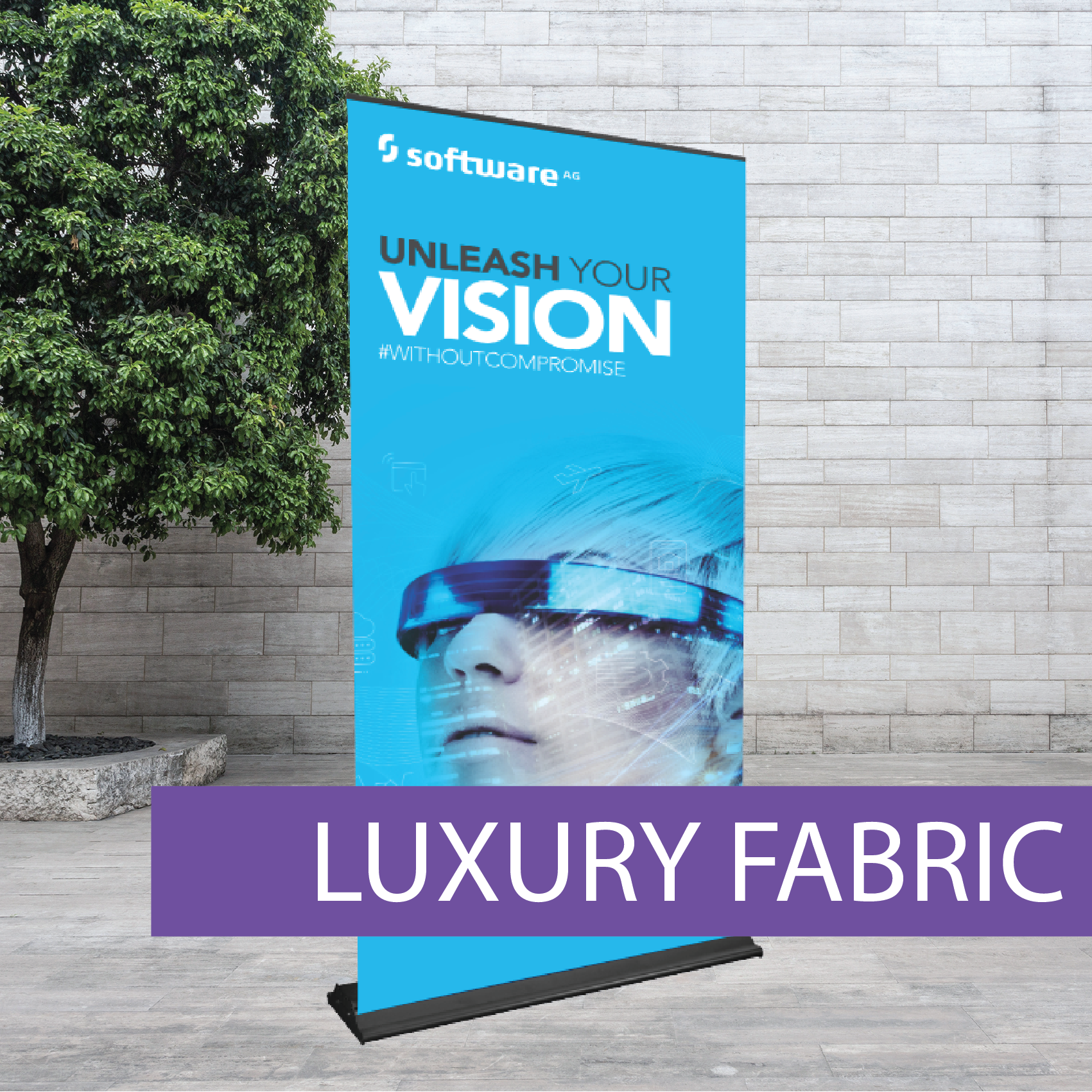 Luxury fabric retractabl banner