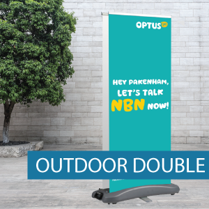 Outdoor pullup banner