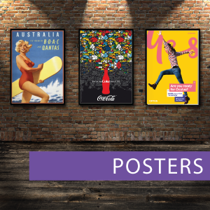 Indoor posters, outdoor posters