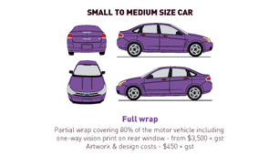 Vehicle Wrap - Small to Medium - Full Wr