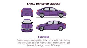 Vehicle Wrap - Small to Medium - Full Wr
