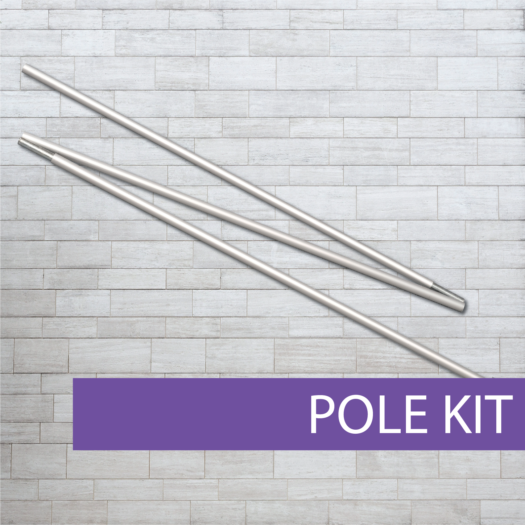 Gold Class roll-up banner pole kit