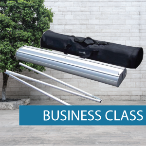 Business class double sided pull-up banner package