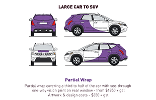 Vehicle Wrap - Large Car - Half Wrap - S