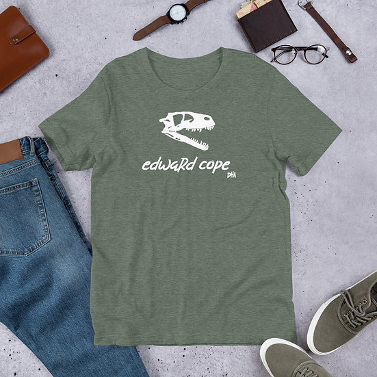 Edward Cope Dinosaur Hunting Apparel Skull Heather Short-Sleeve Unisex T-Shirt