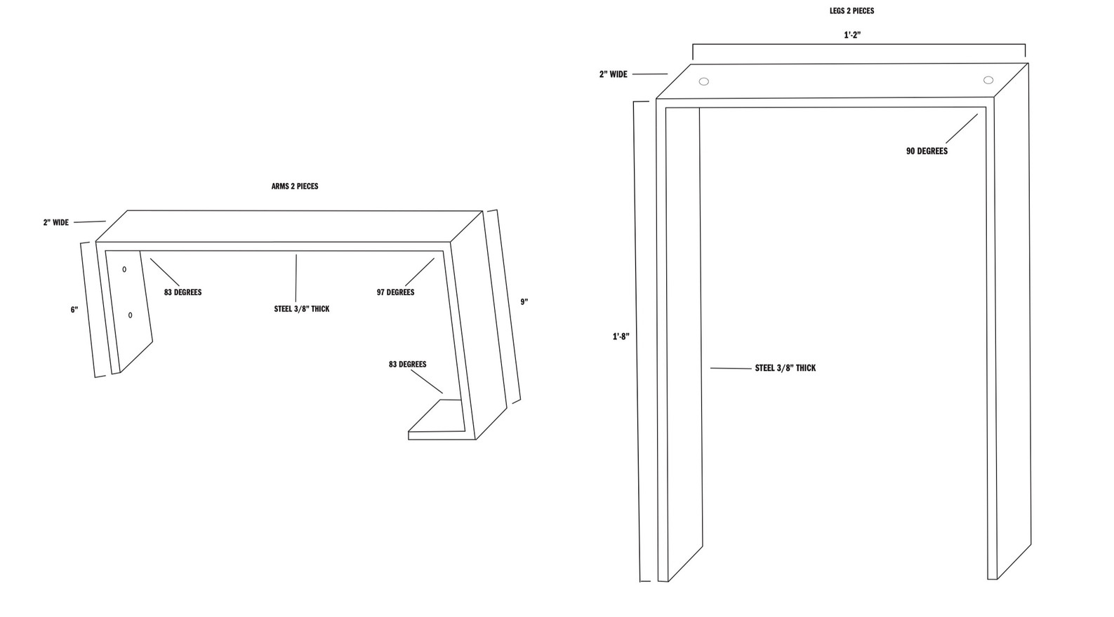 steel detail sketches
