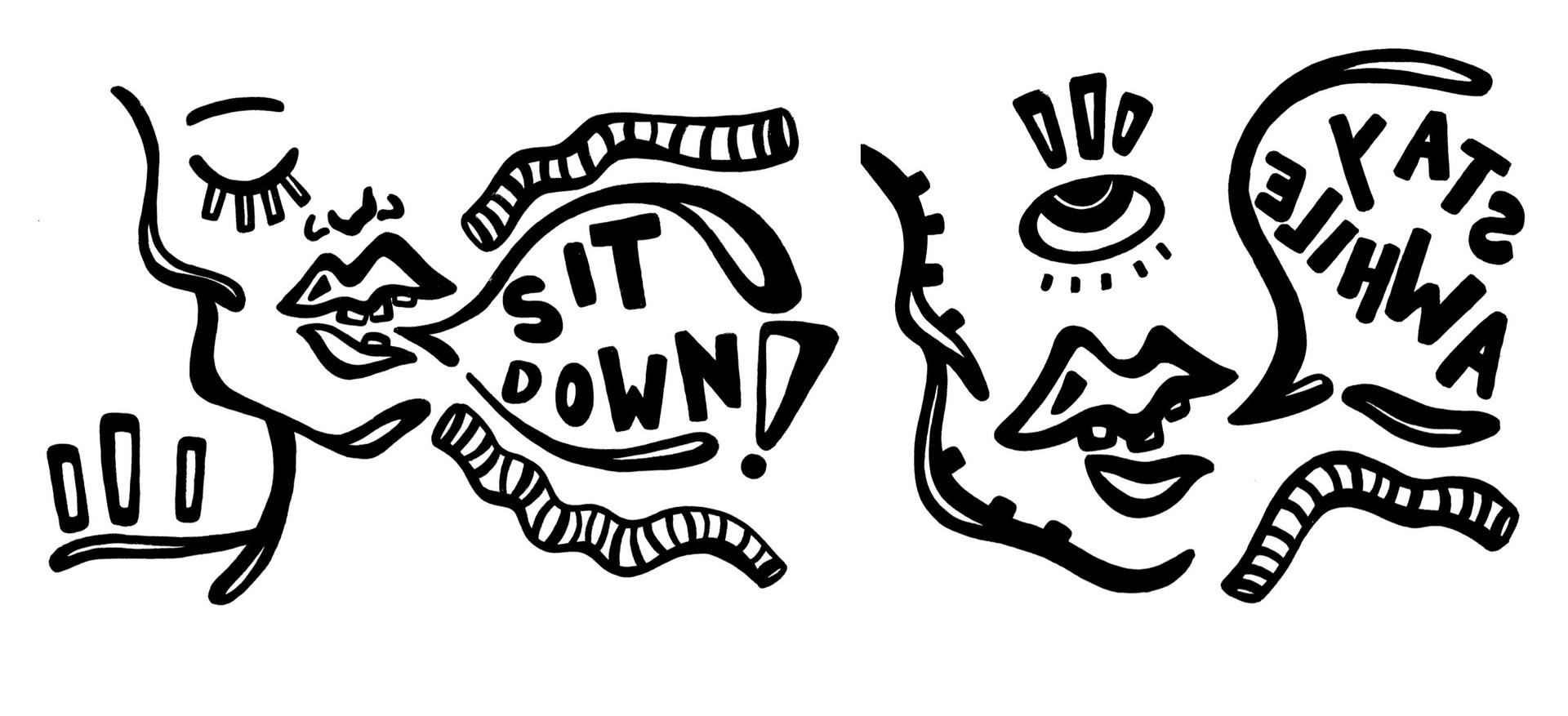 silkscreen drawings