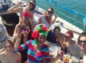 Fiesta en barco velero en Valencia