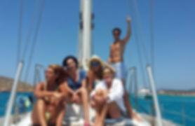 Solarium en el que pasar un rato al sol en tus vacaciones en velero en Bocas del Toro, Panamá