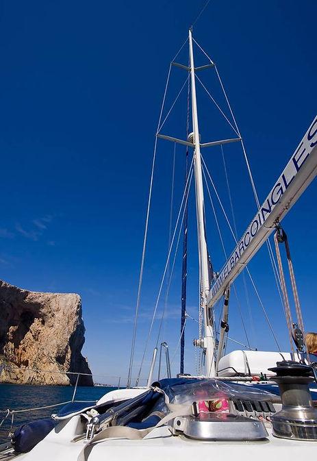Cabo San Antonio entre Javea y Denia, al pasar con el barco velero