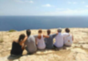 From Mola's lighthouse in Formentera, with your new singles friends