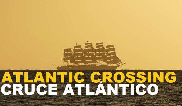 Barco a vela cruzando el atlántico