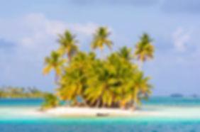 Waisaladup o Pequeña Green Island, en el archipiélago de San Blas, Panamá