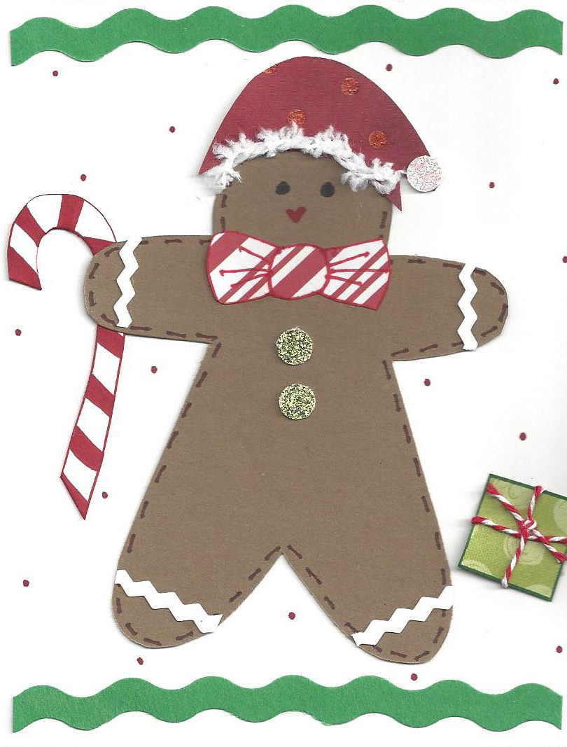 Gingerbread Card (Male)